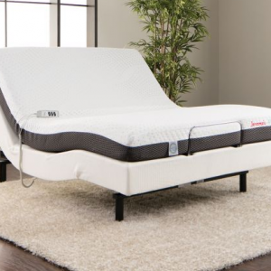 Adjustable Queen Bed with Lifetime Hybrid Mattress