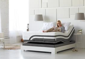 Sealy Optimum Latex Queen Brasswood Mattress and Reflection Power Base!!