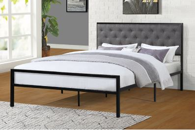 Platform Bed with upholstered Head Board