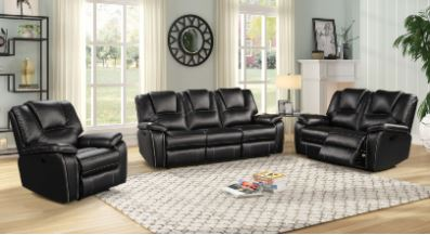 3pc.  Power Reclining Group in Black