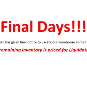 Emergency Warehouse Liquidation Sale!